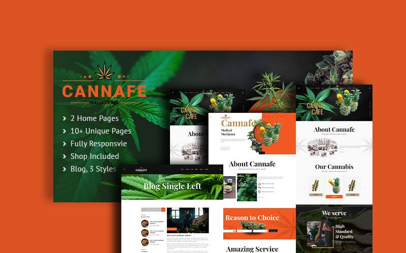 Cannafe | Cannabis Caffe HTML5 Website Template