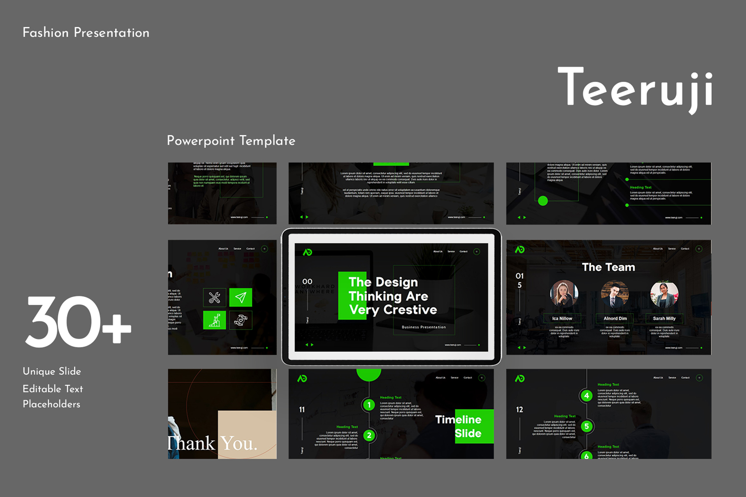 Teeruji Presentation PowerPoint Template
