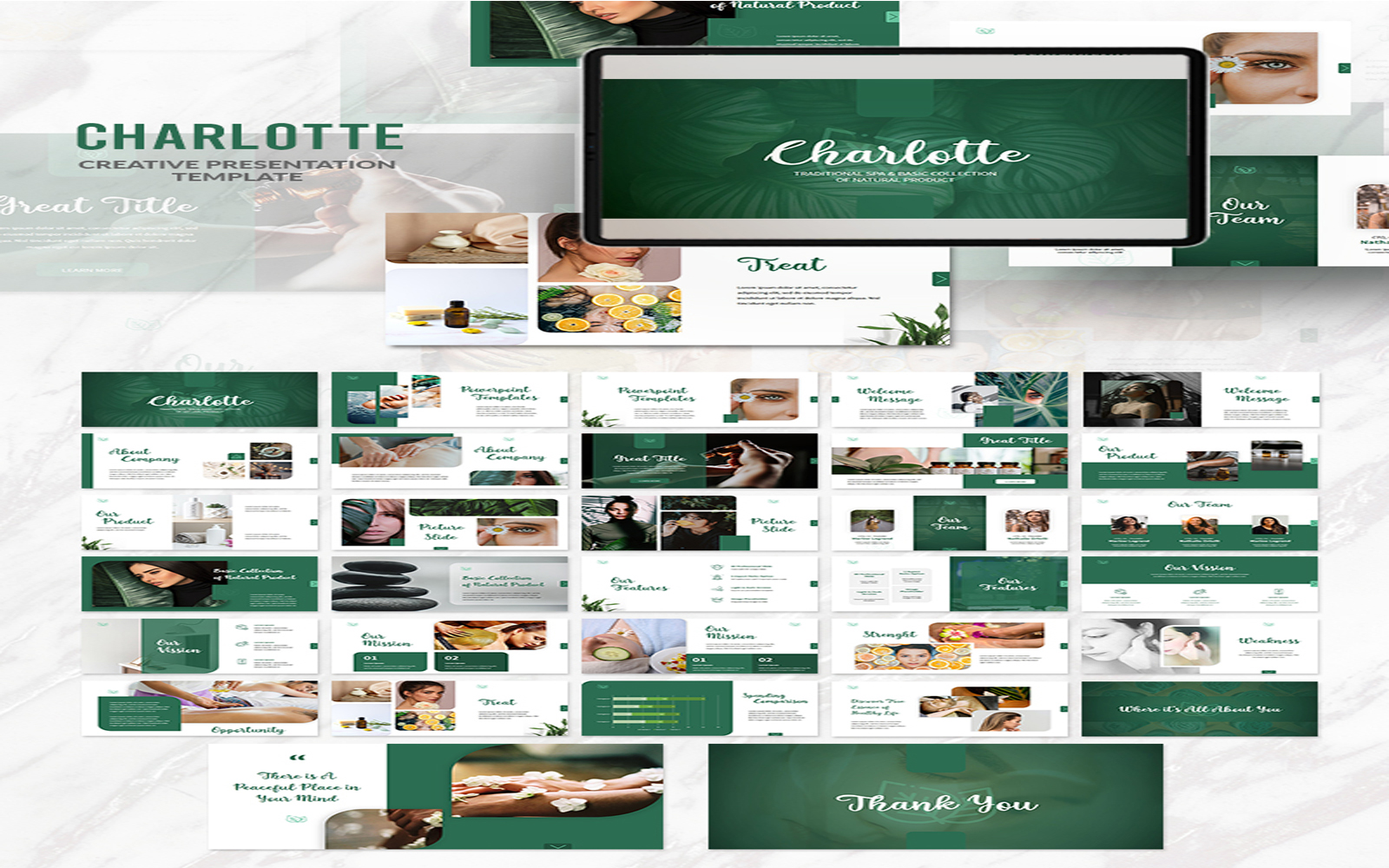 Charlotte Presentation PowerPoint Template