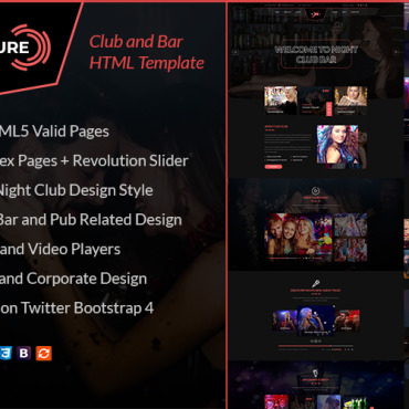 Template Divertisment HTML, JS şi CSS #103377
