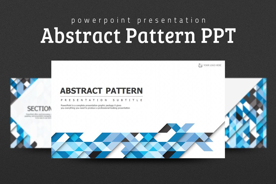 Abstract Pattern PPT PowerPoint Template