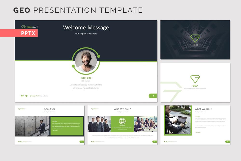 GEO Presentation PowerPoint Template