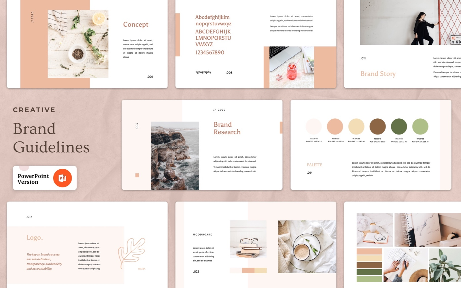 Creative – Brand Guideline PowerPoint Template