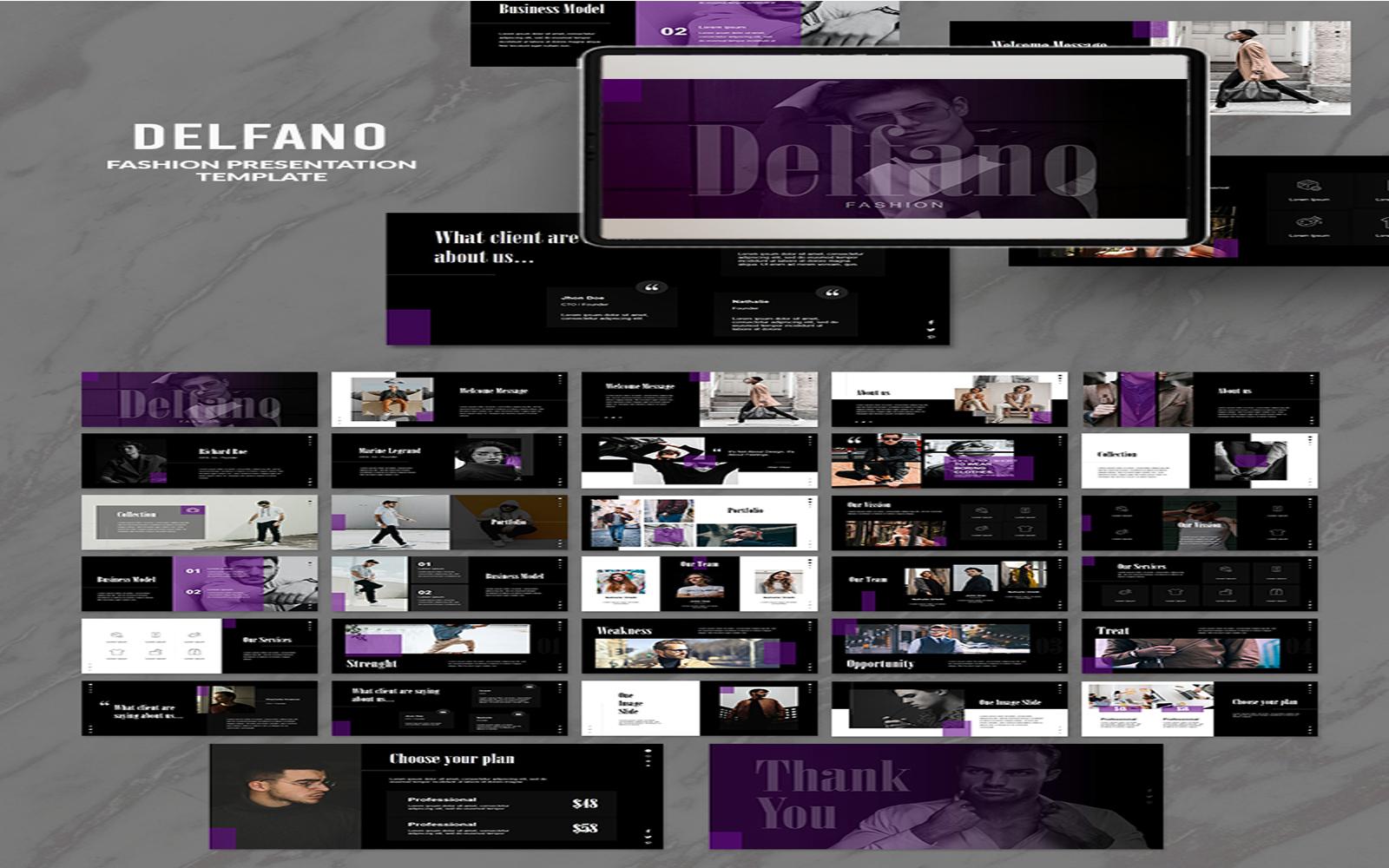 Delfano Presesentation PowerPoint Template