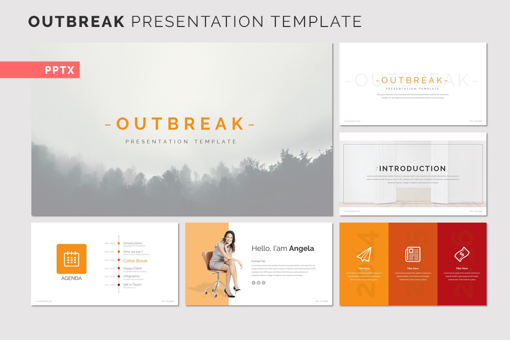 OUTBREAK Presentation PowerPoint Template