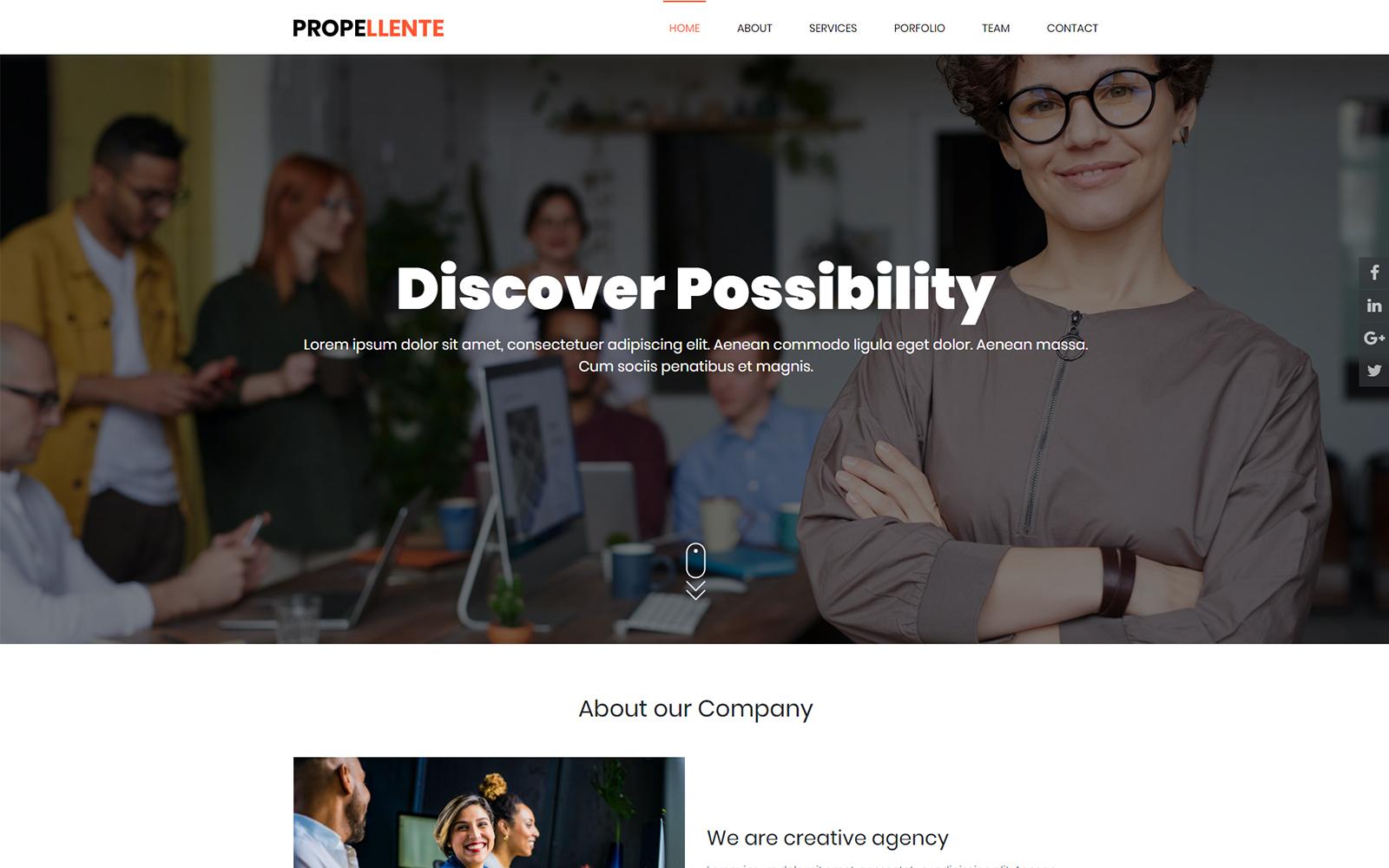 Propellente Multipurpose HTML Landing Page Template