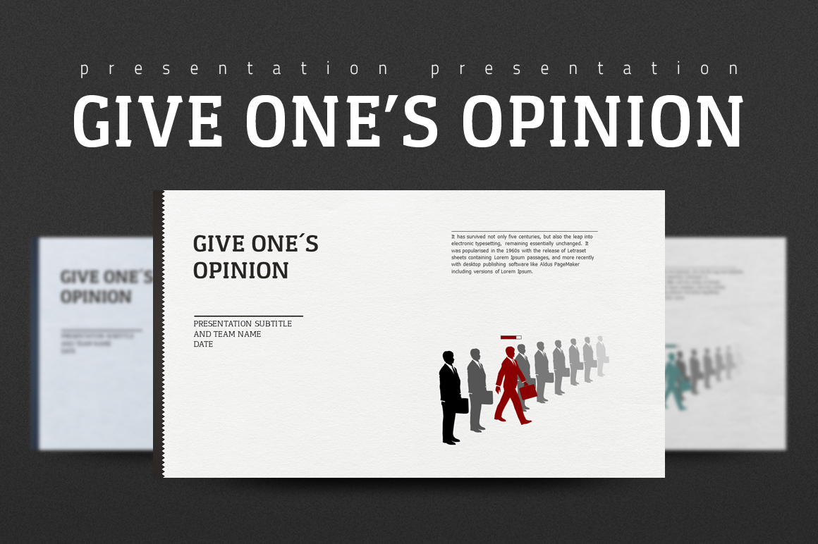 Give One's Opinion PowerPoint Template