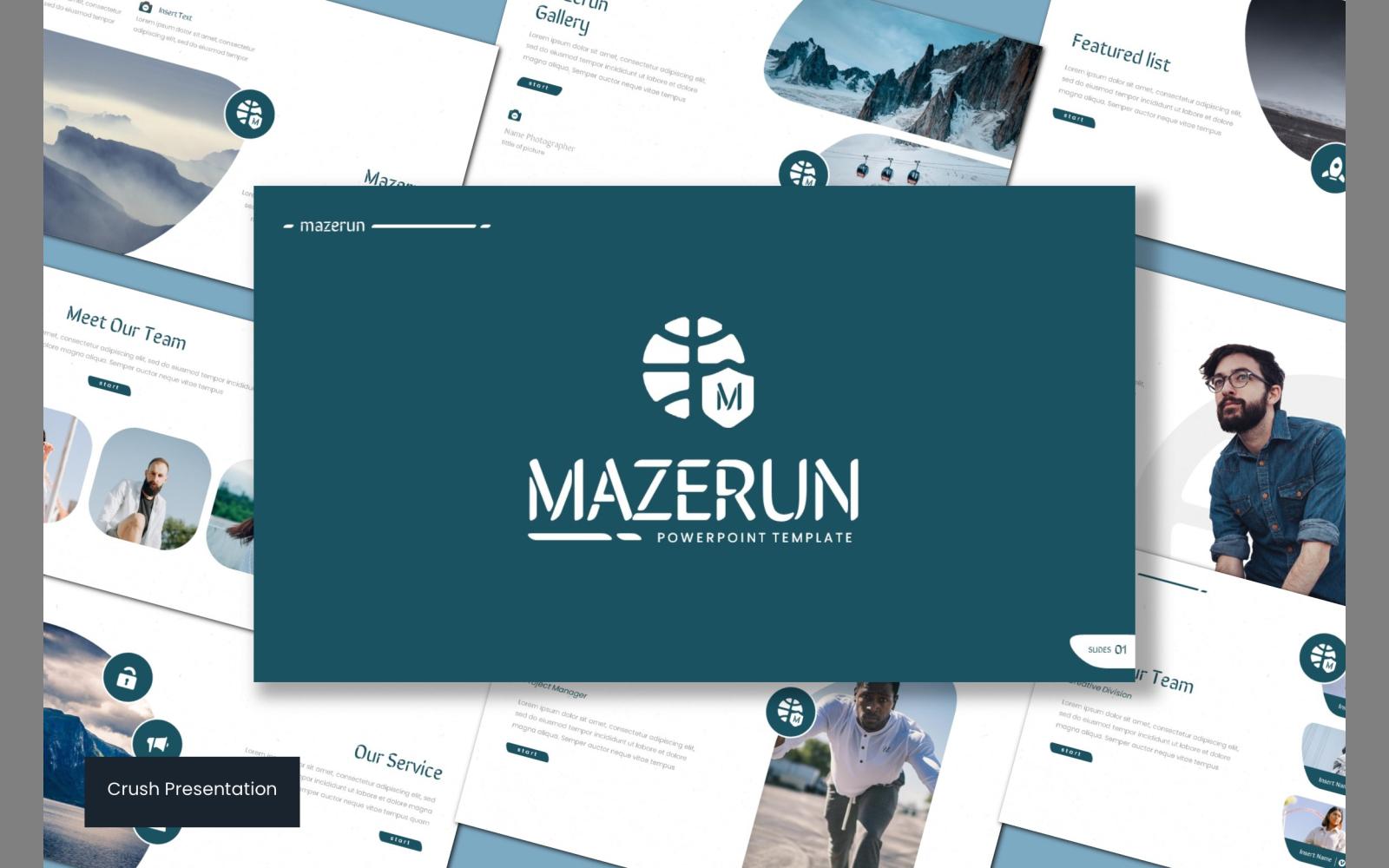 Mazerun PowerPoint Template