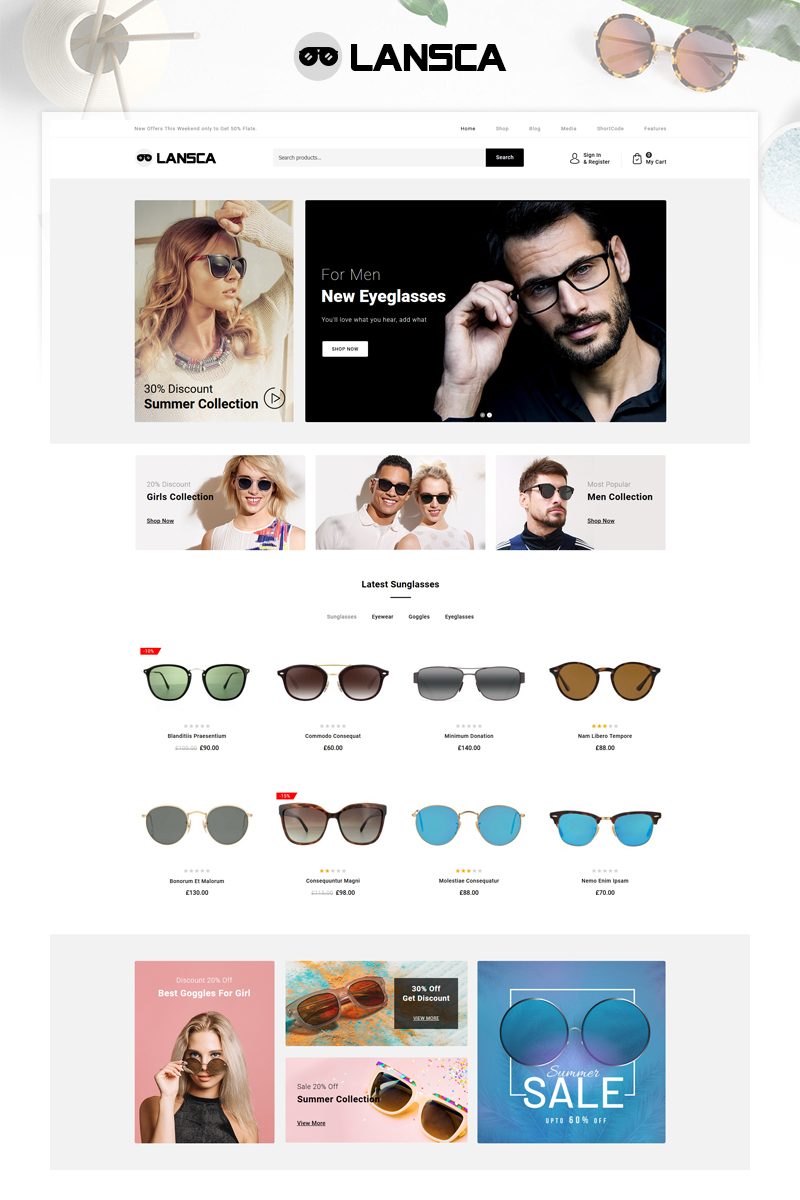 Lansca - Multipurpose WooCommerce Theme