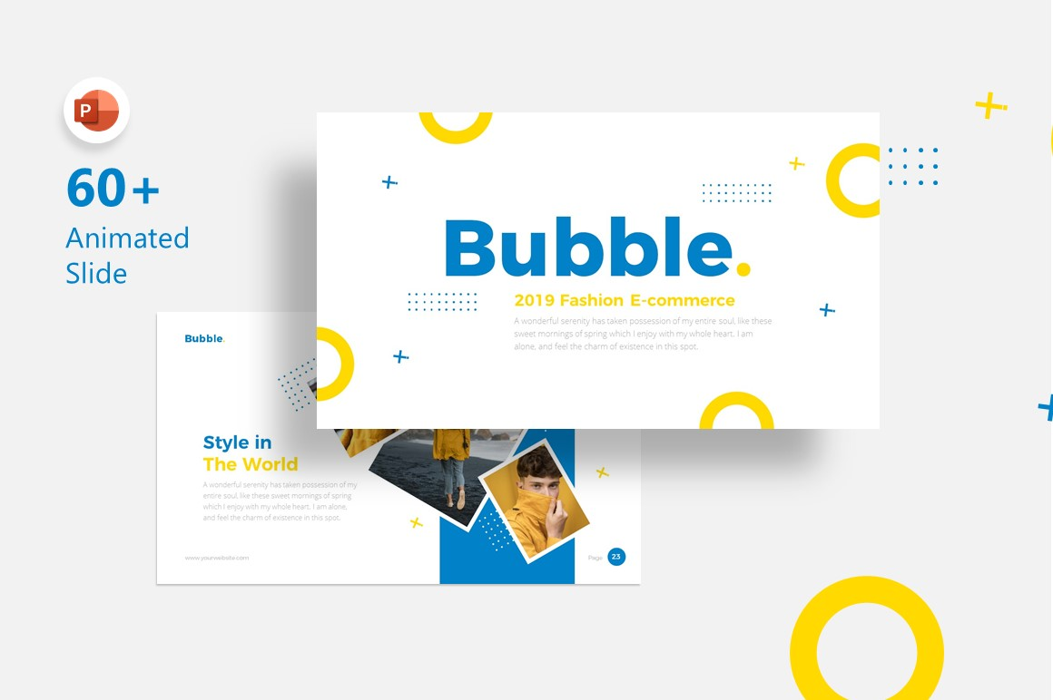 Bubble Fashion Presentation PowerPoint Template