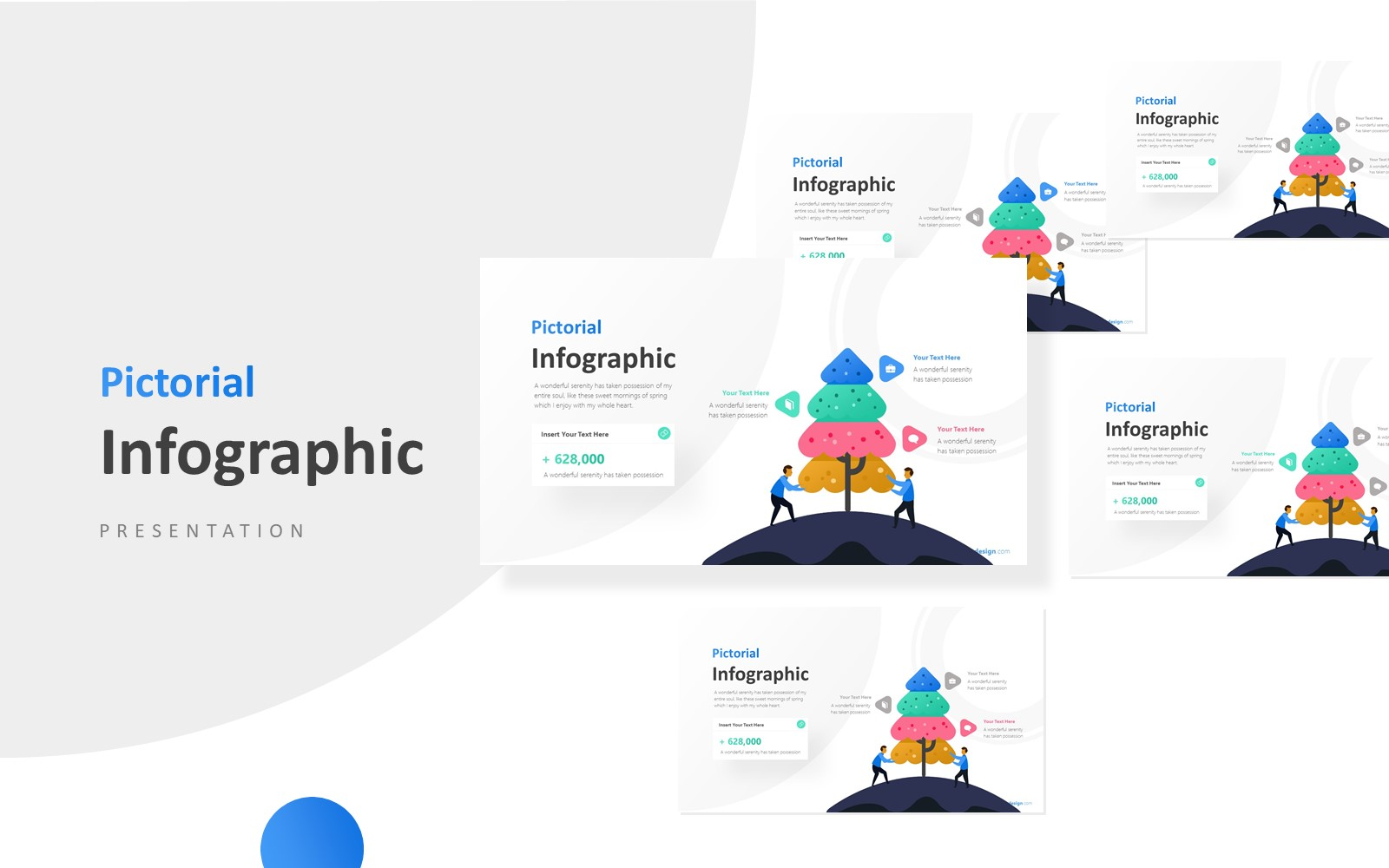 Tree Infographic with Businessman Infographic Presentation PowerPoint Template