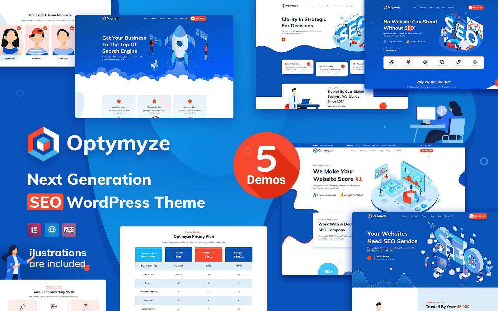 Optymyze - SEO WordPress Theme