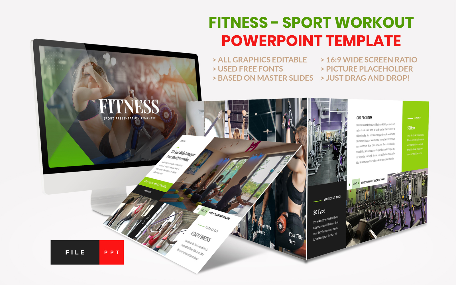 Sport - Fitness Business Workout PowerPoint Template