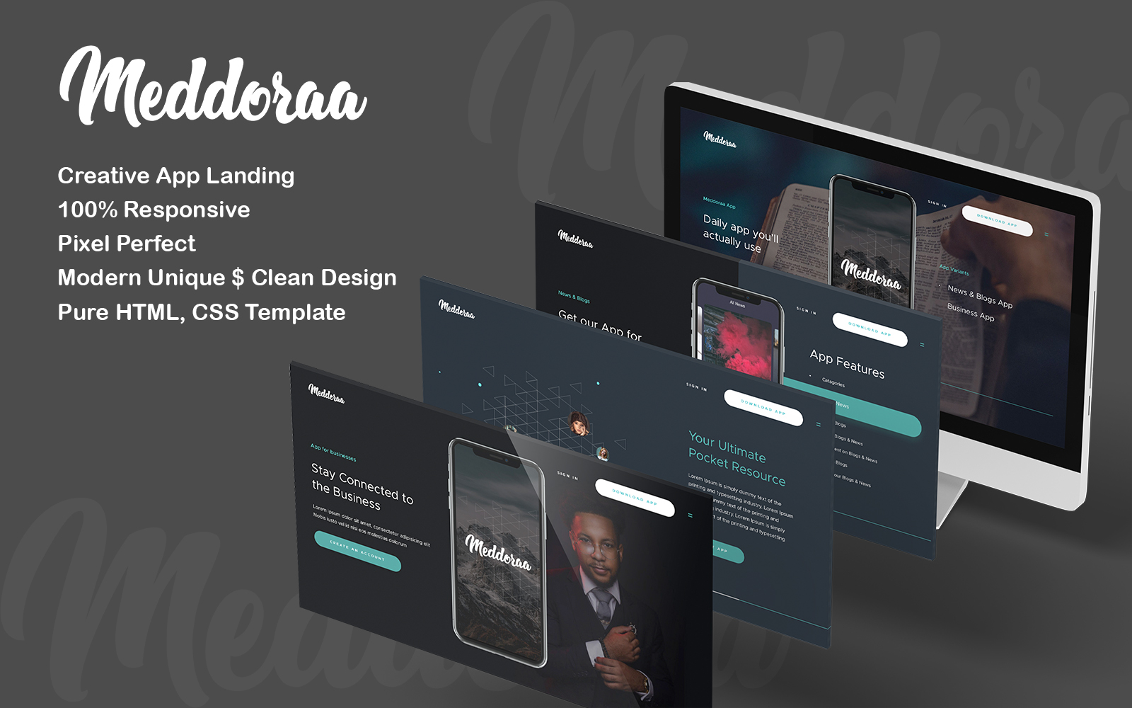 Aapiano HTML Mobile Apps Landing Page Template