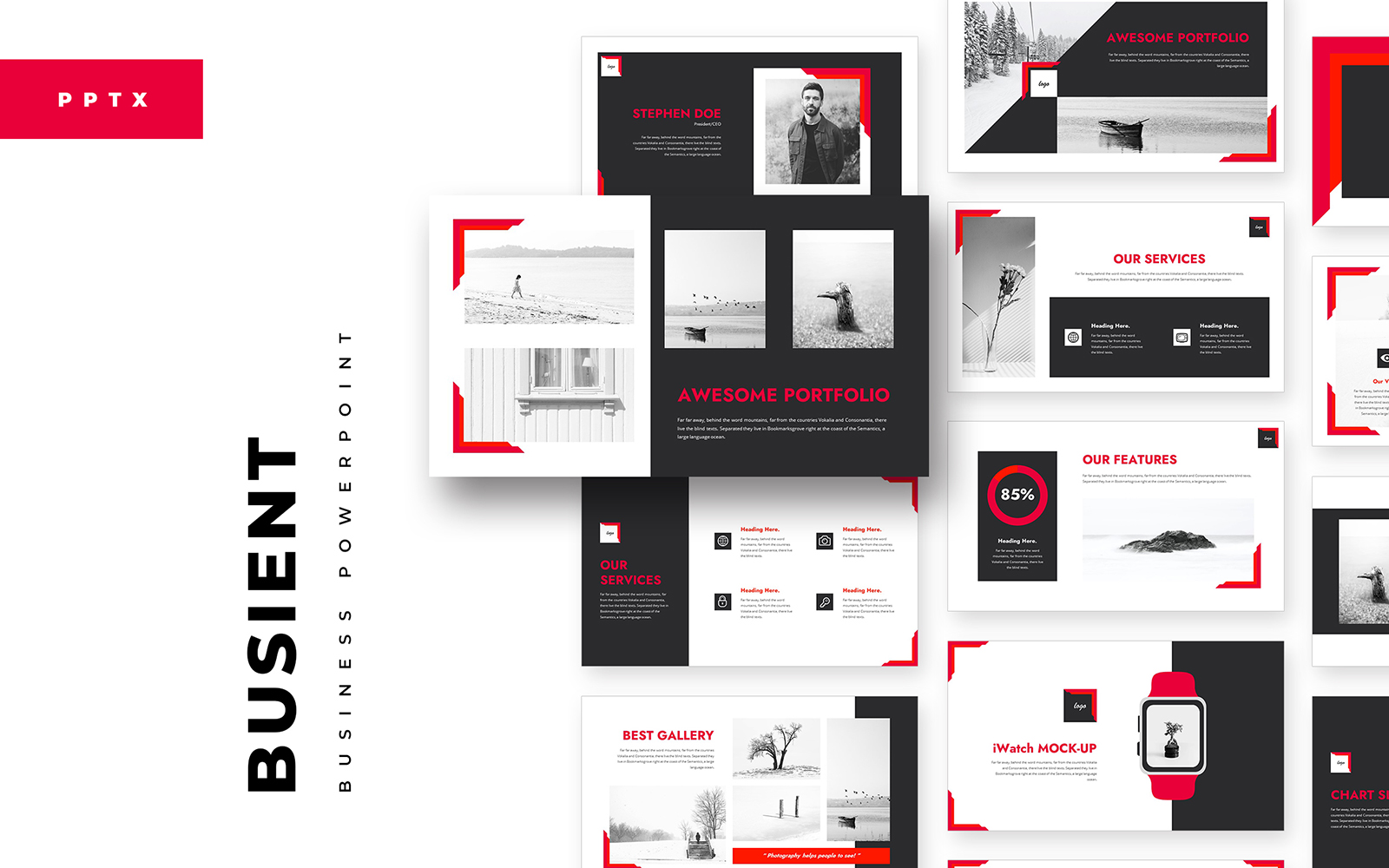 BusiEnt PowerPoint Template