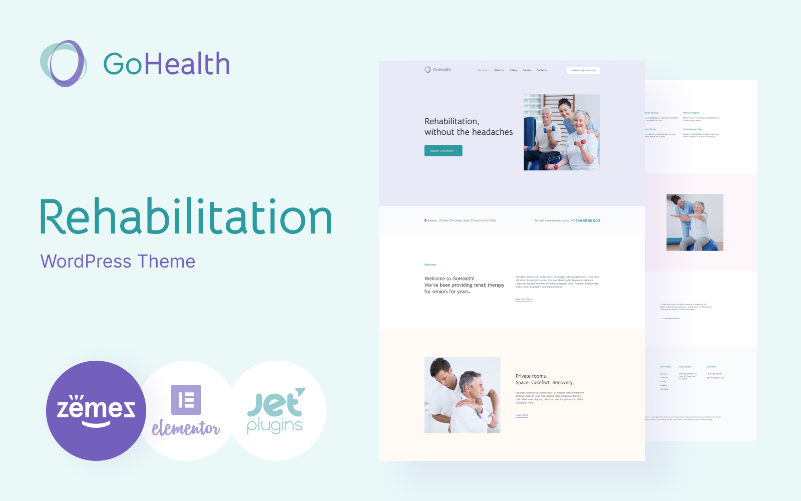 GoHealth - Rehabilitation Website Template WordPress Theme