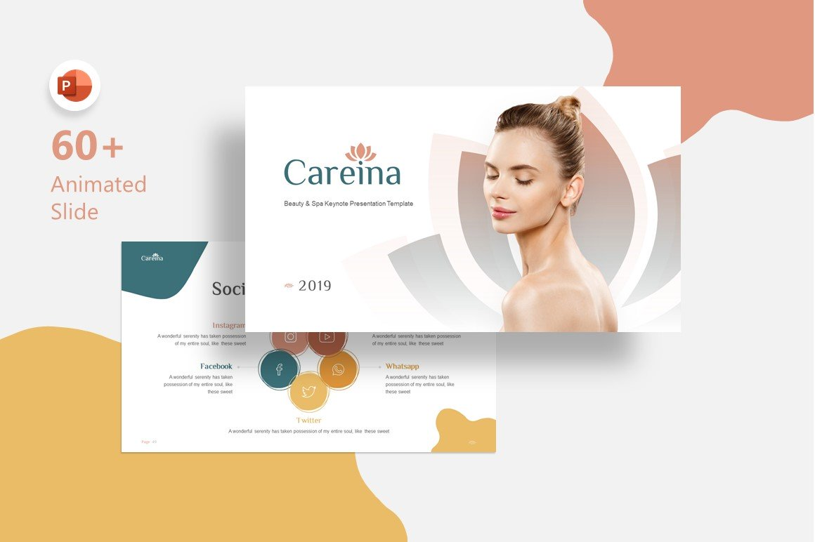 Careina - Spa Simple Minimalis PowerPoint Template