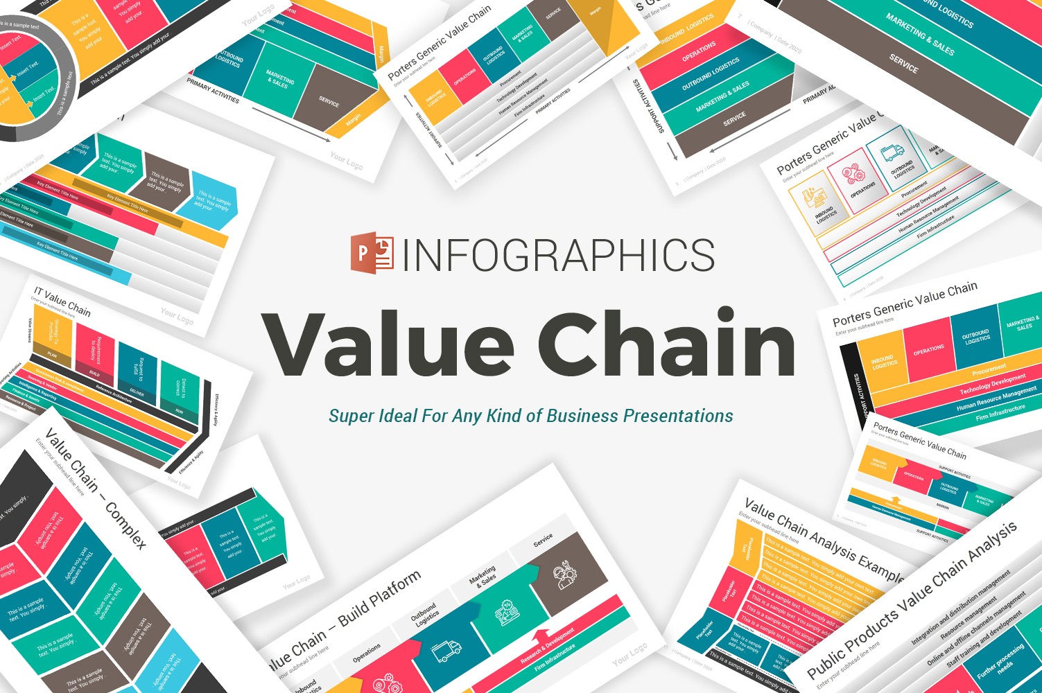 Value Chain Diagrams PowerPoint Template