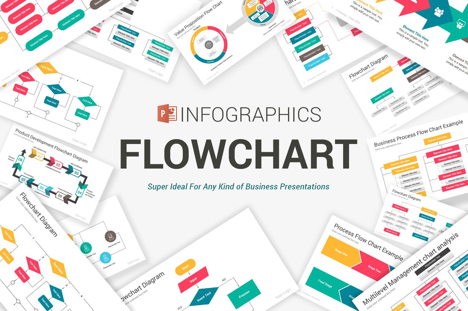 Flowchart Diagrams PowerPoint Template
