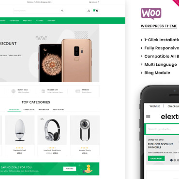 Template Electronice WooCommerce #105210