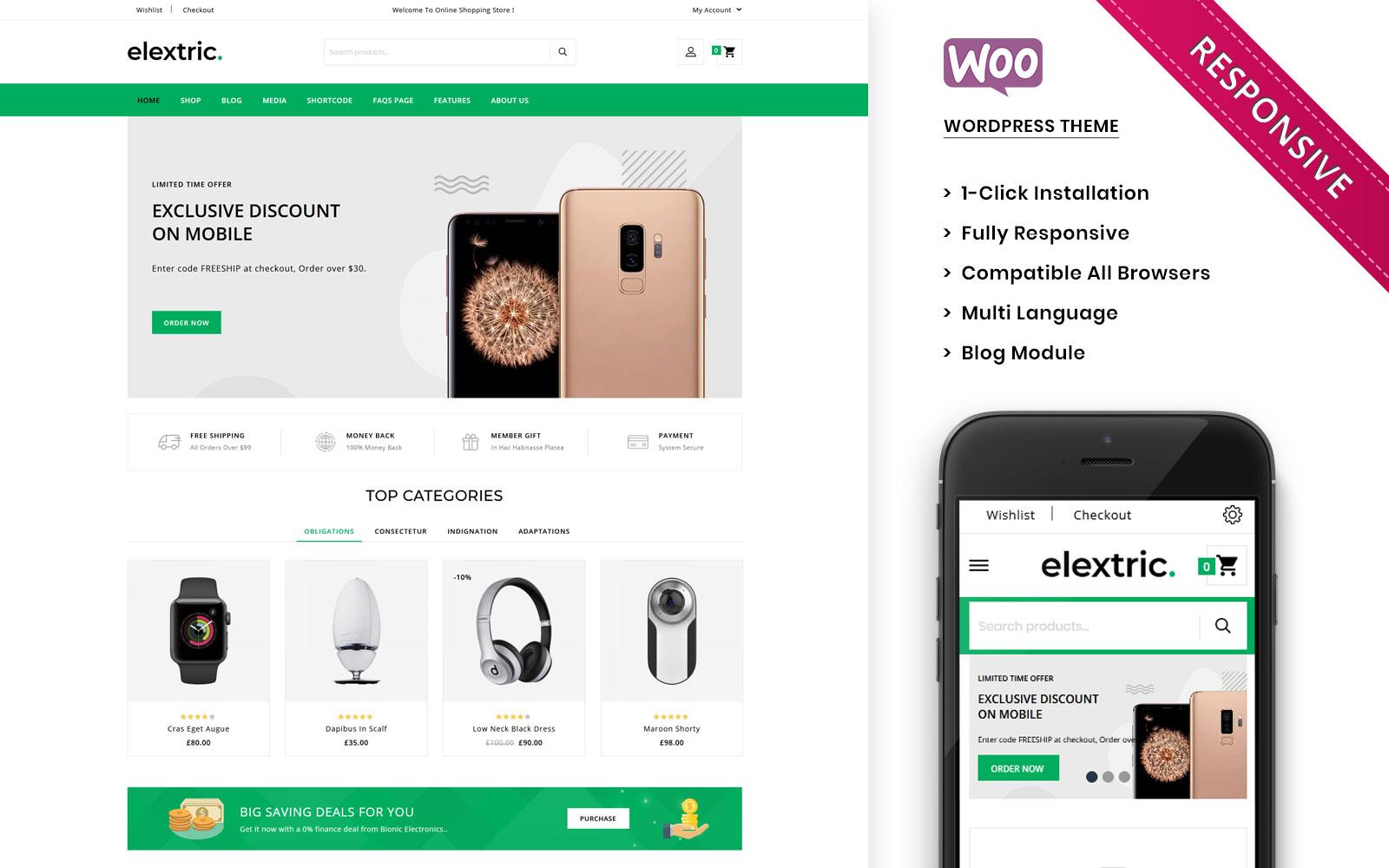 Elextric - The Premium Electronic Store WooCommerce Theme