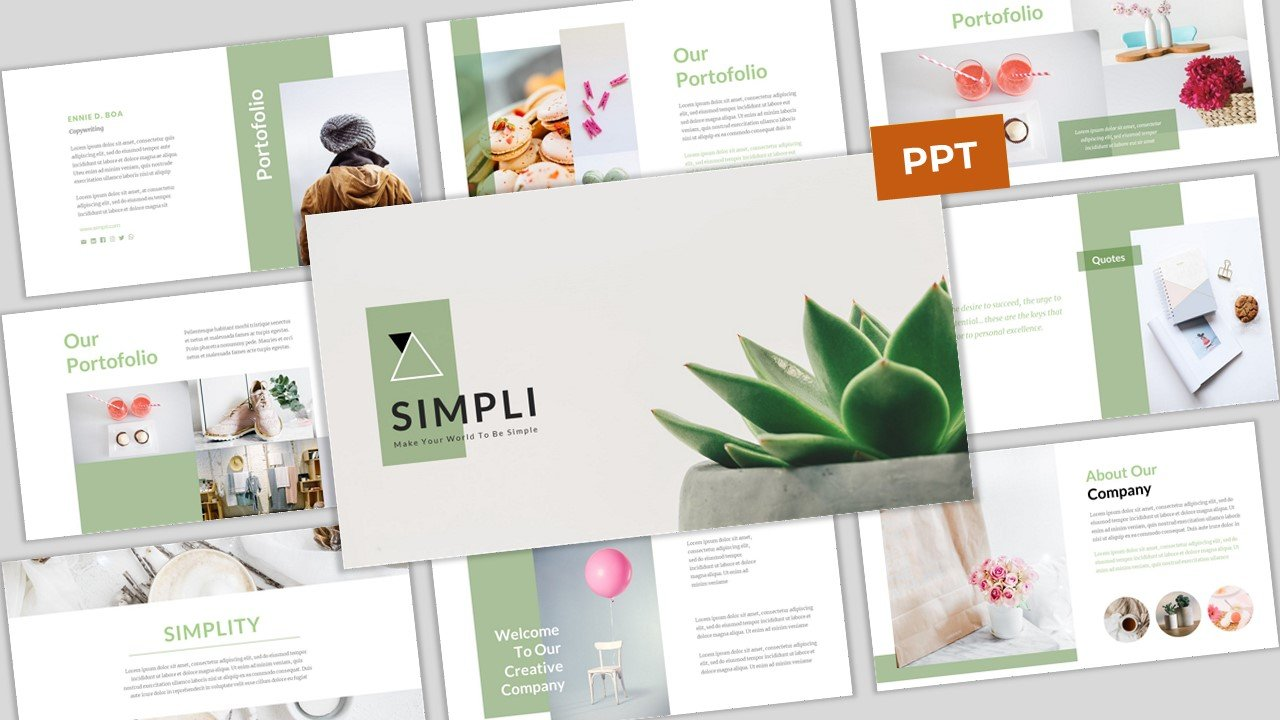 Simpli - Simple & Modern Business PowerPoint Template PowerPoint Template