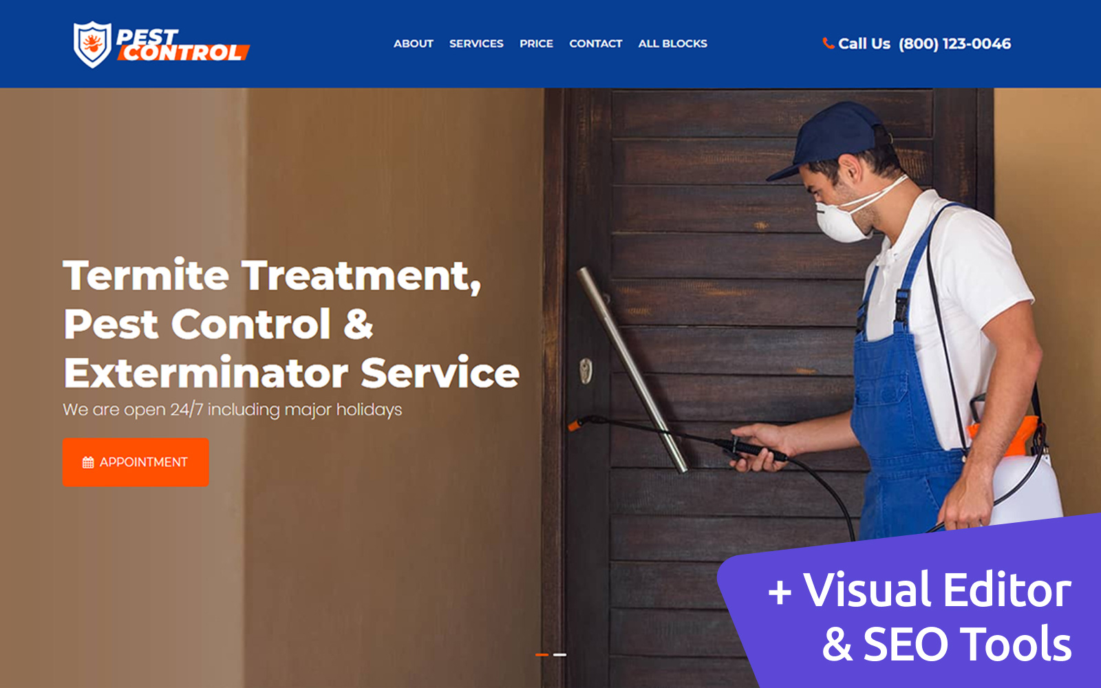 Pest Control Landing Page Template