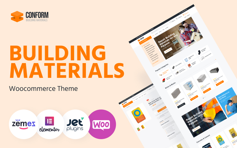 Conform - Building Materials Website Templates WooCommerce Theme