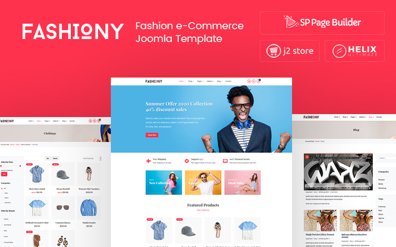 Fashiony - Fashion J2Store eCommerce Joomla Template