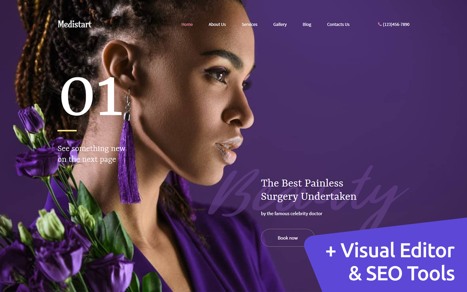 Medistart - Spa Salon Moto CMS 3 Template