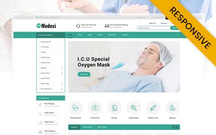 Tema para woocommerce - Categoría: Salud y medicina - versión para Desktop