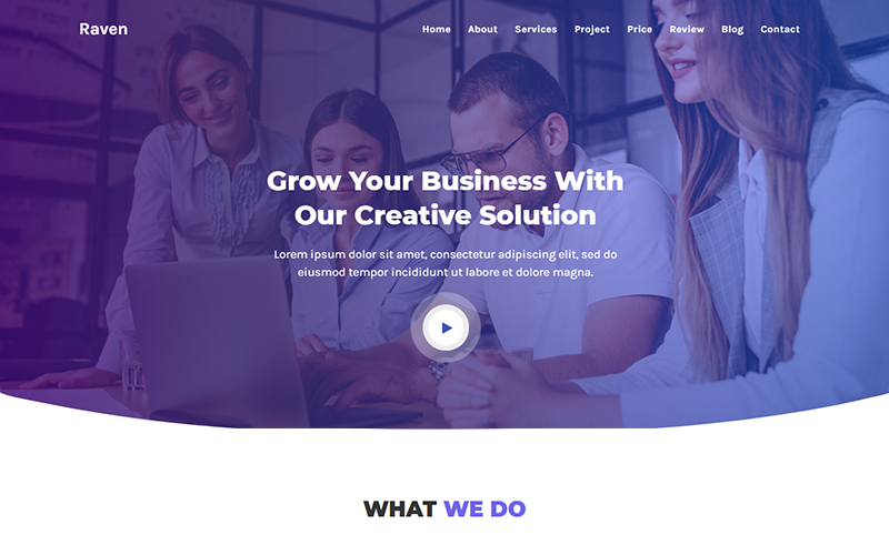 Raven - IT Solutions & Agency HTML Landing Page Template
