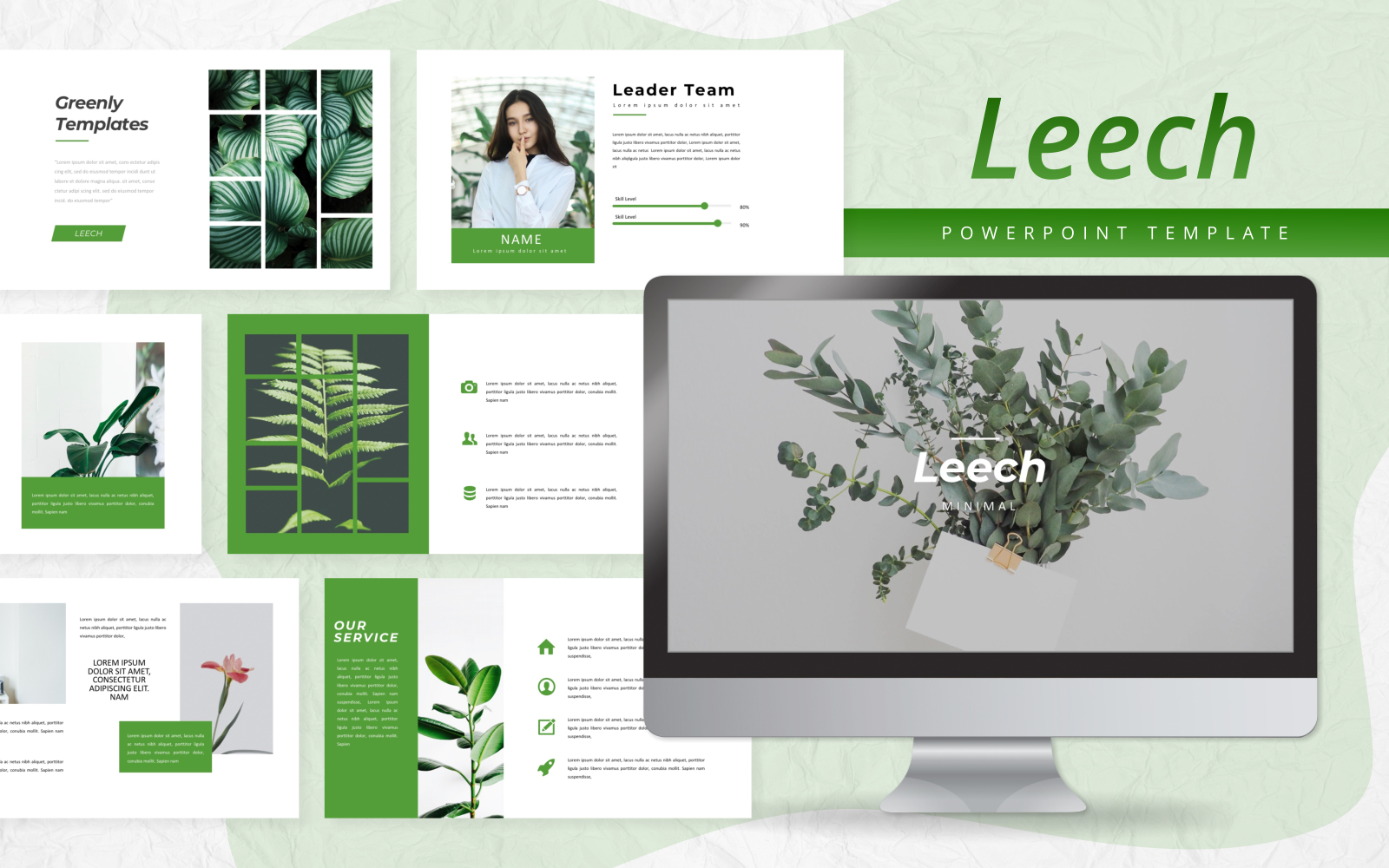 Leech - Creative Presentation PowerPoint Template