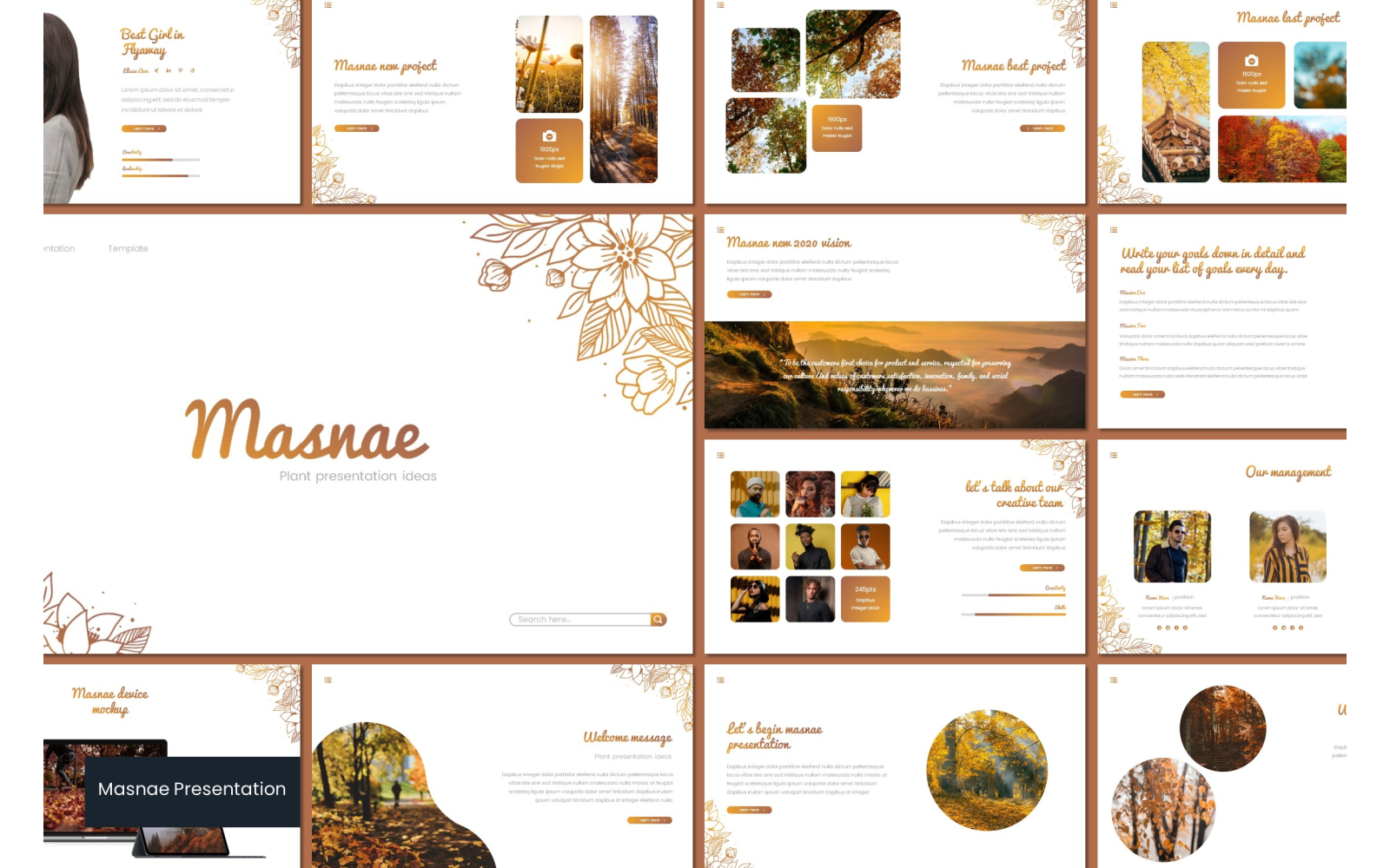 Masnae PowerPoint Template