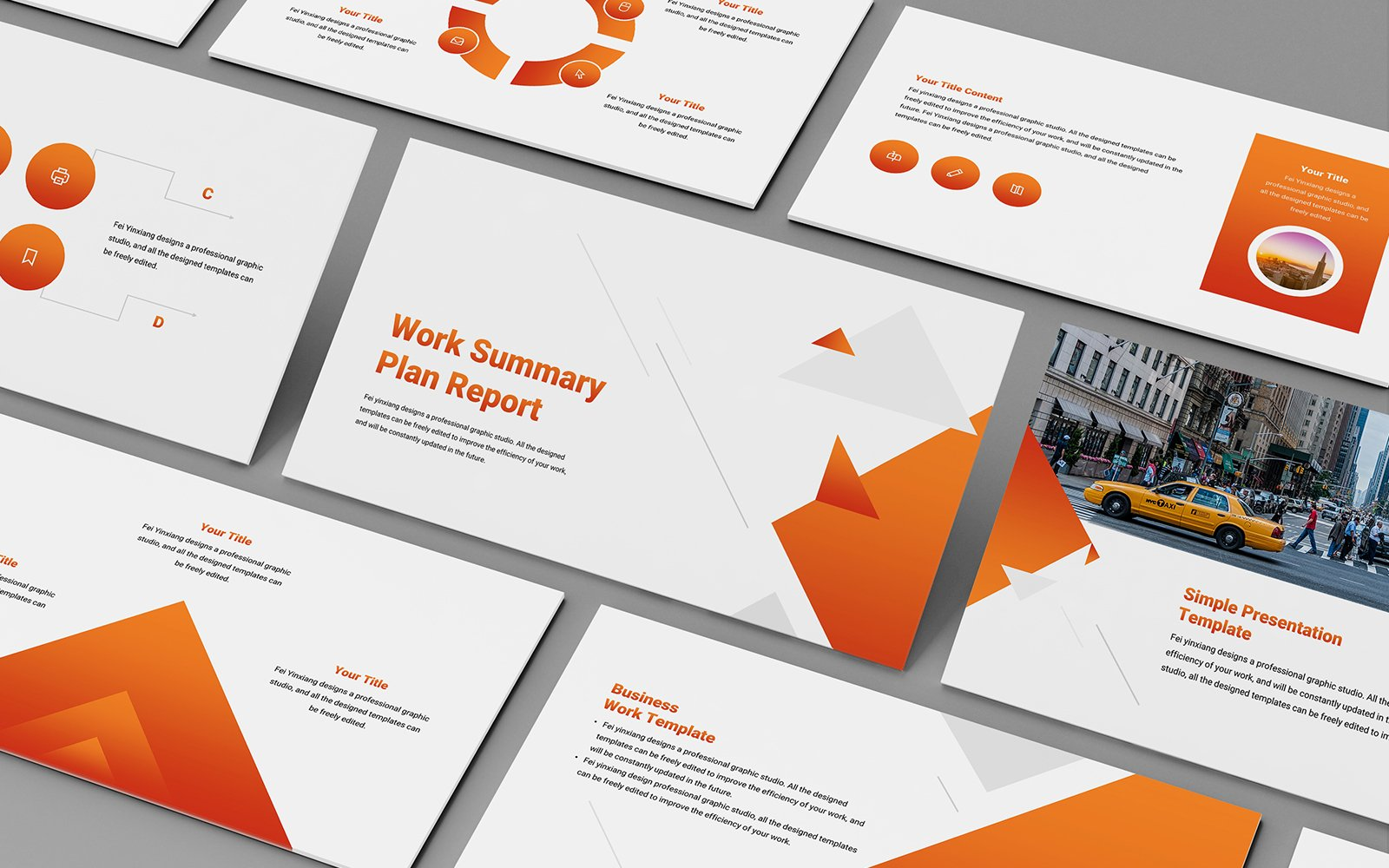Gradient Business Company PowerPoint Template
