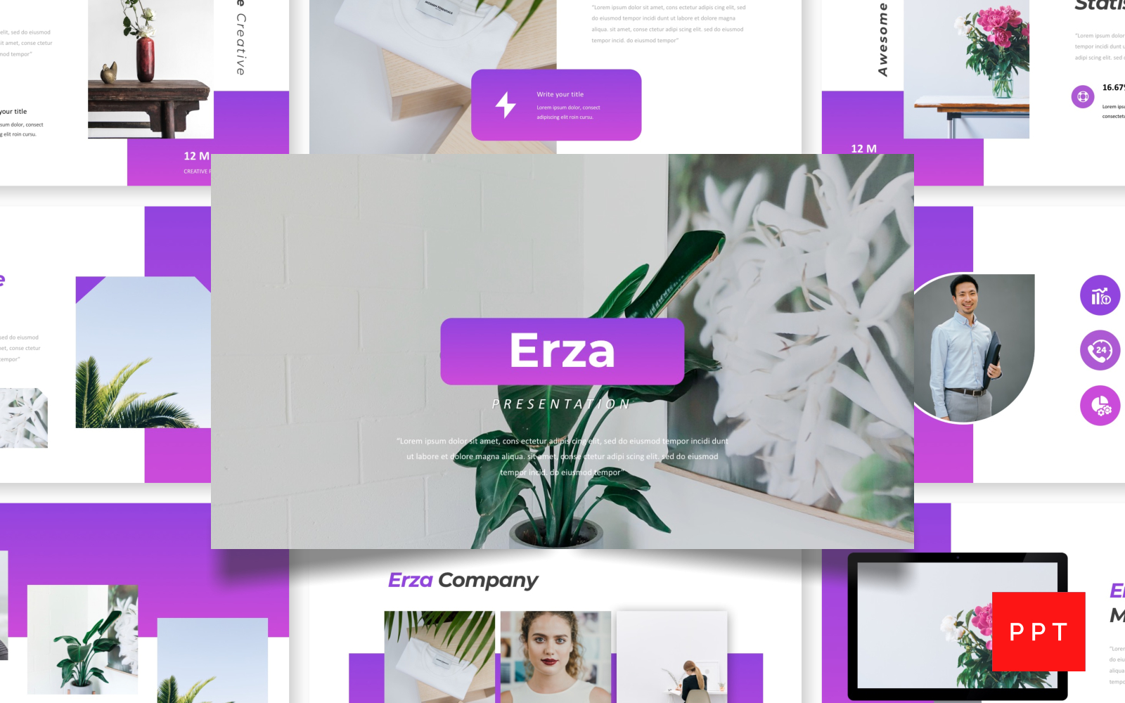 Erza - Creative Presentation PowerPoint Template