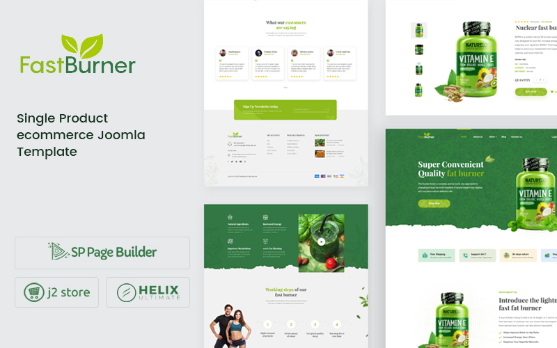 Fastburner - Nutrition Supplement eCommerce Joomla Template