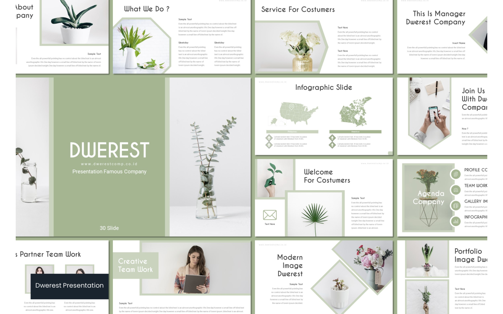 Dwerest PowerPoint Template