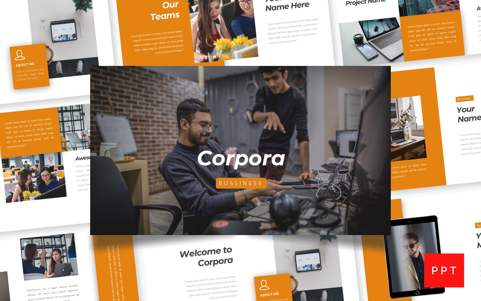 Corpora - Bussiness PowerPoint Template