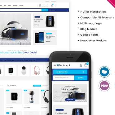Template Electronice WooCommerce #107011