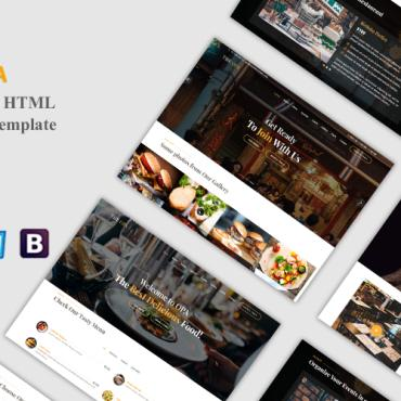 Template Cafenele și restaurante Landing Page #107097