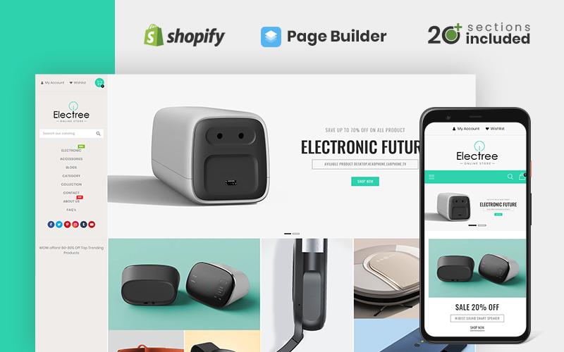 Electree Unique Electronics Store Shopify Theme