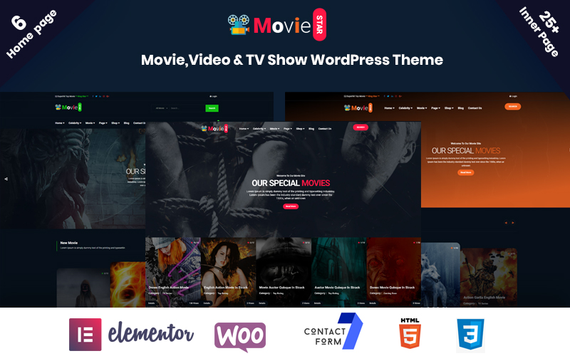 Moviestar - Online Movie, Video & TV Show WordPress Theme