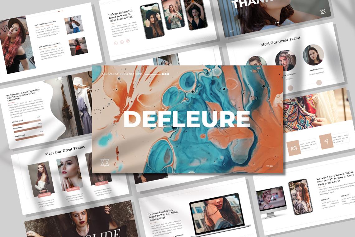 Defleure - Minimalist PowerPoint Template