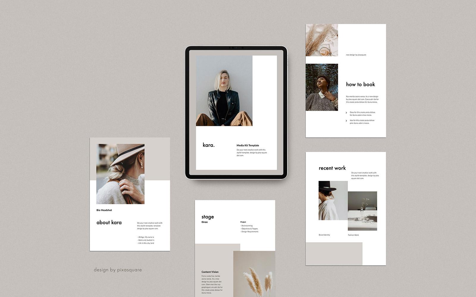 KARA - A4 Vertical Media/Press Kit PowerPoint Template