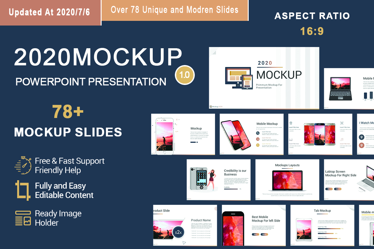 2020 Mockup PowerPoint Template