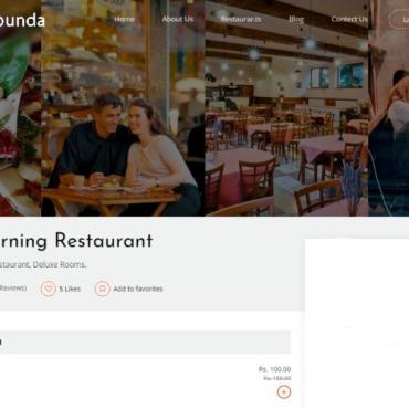Template Mâncare și băutură Landing Page #107442