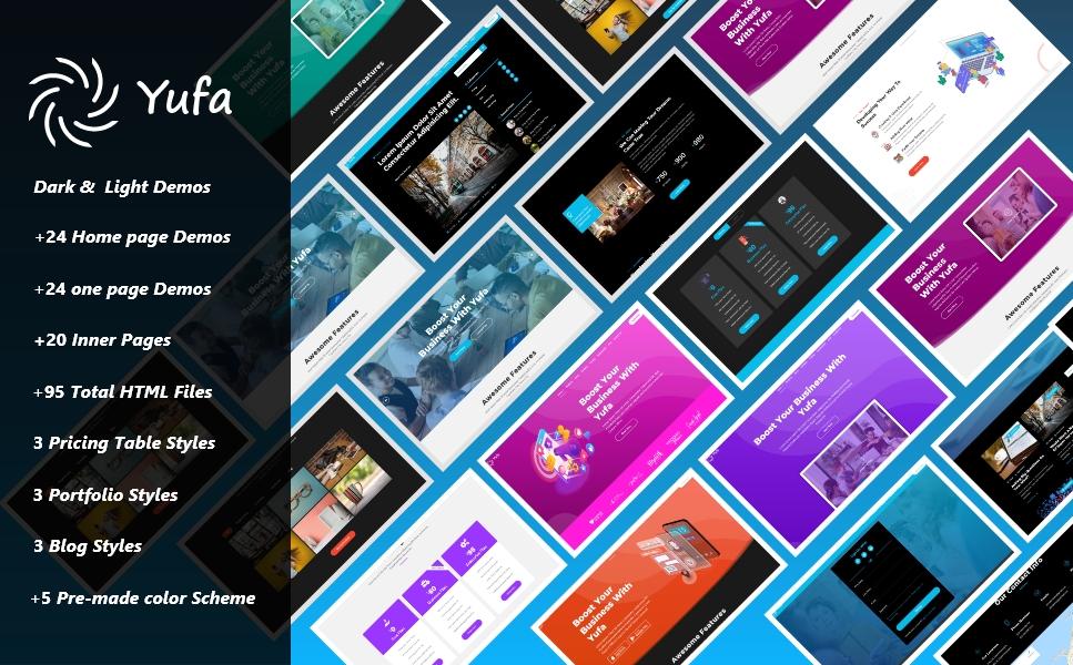Yufa – Multipurpose HTML Bootstrap clean Responsive Website Template