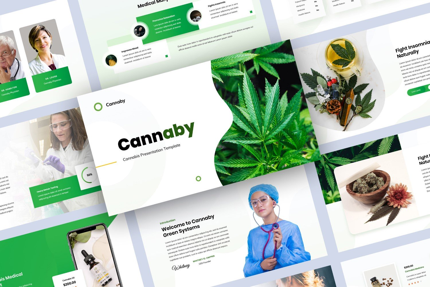 Cannabis Presentation PowerPoint Template