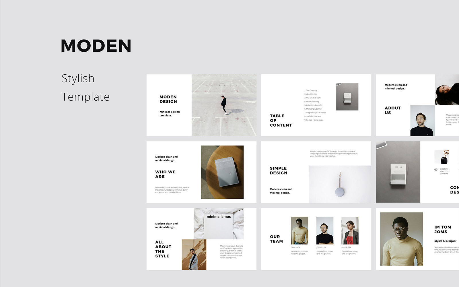 MODEN - Presentation PowerPoint Template